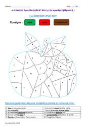 Fonction d'un mot - Coloriage magique : 3eme Primaire