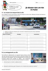 Se déplacer dans une ville en France - Exercices : 5eme Primaire