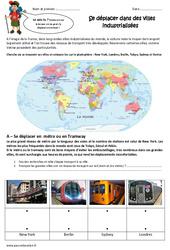 Se déplacer dans des villes industrialisées - Exercices : 5eme Primaire