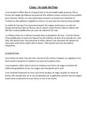 Cycle de l'eau - Cours, Leçon - Sciences : 4eme, 5eme Primaire
