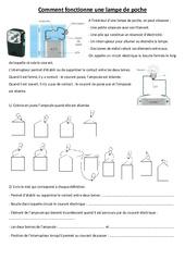 Comment fonctionne une lampe de poche - Electricité - Exercices - Sciences : 3eme, 4eme, 5eme Primaire