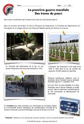 1ère guerre mondiale - Vestiges du passé - Exercices : 5eme Primaire