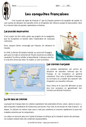 Conquêtes françaises - Exercices : 4eme Primaire