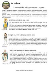 Temps des rois - Cours, Leçon : 4eme Primaire