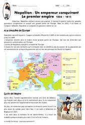 Napoléon , empereur conquérant - Exercices : 4eme Primaire