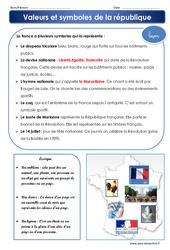 Valeurs et symboles de la république - Examen Evaluation : 4eme, 5eme Primaire