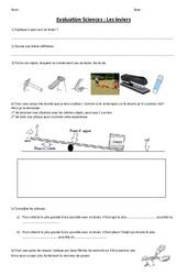 Leviers et balances - Examen Evaluation : 3eme, 4eme, 5eme Primaire