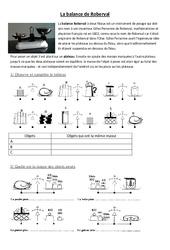 Balance de Roberval - Leviers et balances - Exercices - Sciences : 3eme, 4eme, 5eme Primaire