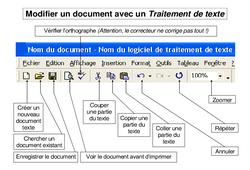 Traitement de texte - Informatique  : 3eme, 4eme, 5eme Primaire