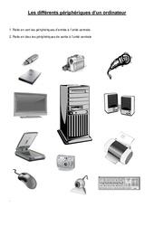 Les différents périphériques d'un ordinateur - Informatique - Sciences : 3eme, 4eme, 5eme Primaire