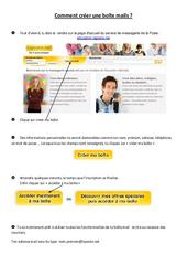 Comment créer une boîte mails - Informatique - Sciences : 3eme, 4eme, 5eme Primaire