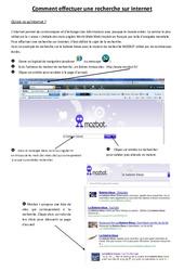 Comment effectuer une recherche sur internet - Informatique - Sciences : 3eme, 4eme, 5eme Primaire