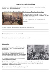 Les principes de la République - La république - Documents, questions, corrigé : 4eme, 5eme Primaire