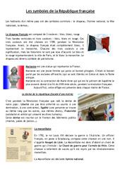 Les symboles de la république - La république - Documents, questions, corrigé : 4eme, 5eme Primaire