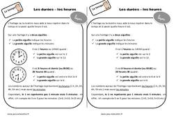 Durées - Heures - Cours, Leçon : 2eme Primaire