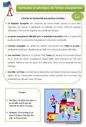 Symboles et principes de l'Union européenne - Cours, Leçon : 4eme, 5eme Primaire