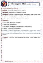 Respect des différences - 1 image 1 débat - Les p'tits citoyens : 4eme, 5eme Primaire
