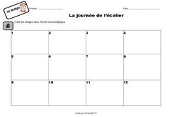 La journée de l'écolier - Exercices : 2eme Primaire