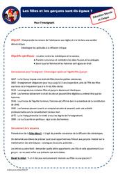 Filles et garçons - EMC - Fiche de préparation - Séquence : 2eme, 3eme Primaire