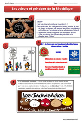 Valeurs et principes de la République - Exercices - EMC : 4eme, 5eme Primaire