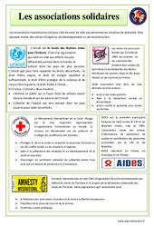Associations solidaires - EMC : 4eme, 5eme Primaire