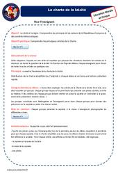 Charte de la Laïcité - Fiche de préparation - EMC : 4eme, 5eme Primaire
