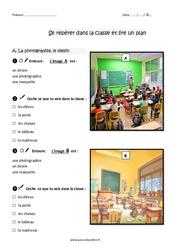 Se repérer dans la classe et lire un plan - Exercices : 2eme Primaire