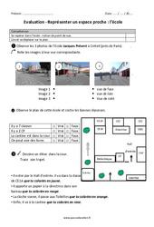 Ecole - Représenter un espace proche - Examen Evaluation : 2eme Primaire