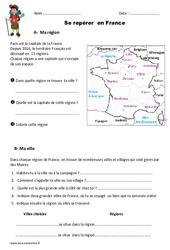 Se repérer en France - Exercices : 2eme Primaire