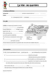 Ville - Quartiers - Cours, Leçon : 3eme Primaire