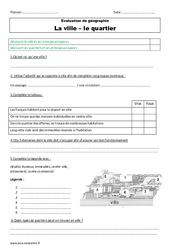 Ville - Quartier - Examen Evaluation : 3eme Primaire