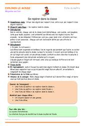 Se repérer dans la classe - Fiche de préparation : 2eme Maternelle - Cycle Fondamental