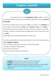 Hygiène corporelle - Cours, Leçon - EMC : 4eme, 5eme Primaire