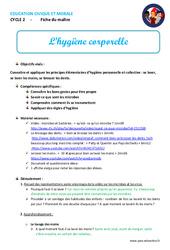 Hygiène corporelle - Fiche de préparation - EMC : 1ere, 2eme, 3eme Primaire