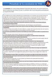 Préambule de la constitution de 1946 - EMC : 4eme, 5eme Primaire