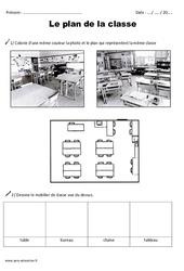 Plan de la classe - Exercices - Espace proche : 1ere Primaire