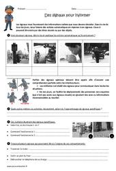 Des signaux pour informer - Exercices : 4eme, 5eme Primaire