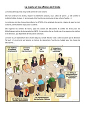 La mairie et les affaires de l'école - Instruction civique - Documents, questions, corrigés : 3eme, 4eme Primaire