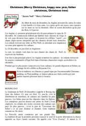 Christmas - Merry Christmas, happy new year, father christmas, Christmas tree - Civilisation anglaise : 3eme, 4eme, 5eme Primaire