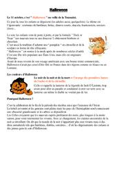 Halloween - Civilisation anglaise : 3eme, 4eme, 5eme Primaire