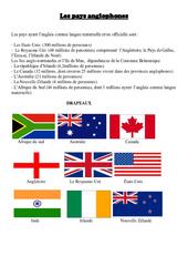Pays anglophones - Civilisation anglaise : 3eme, 4eme, 5eme Primaire