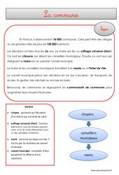 Commune - Cours, Leçon - EMC : 4eme, 5eme Primaire