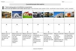 Caractéristiques des maisons - Exercices : 2eme Primaire