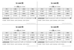 Son in - ain - ein - im - Cours, Leçon : 2eme Primaire