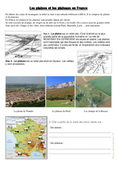 Plaines et plateaux en France - Géographie : 3eme, 4eme Primaire