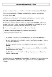 Fleuves de France - Géographie - Cours, Leçon : 3eme, 4eme Primaire
