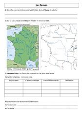 Fleuves de France - Géographie - Exercices : 3eme, 4eme Primaire