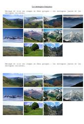 Les montagnes - Exercices - 2 : 3eme, 4eme Primaire