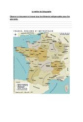 Le métier du géographe - Exercices : 3eme Primaire