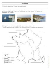 Le littoral - Exercices : 3eme, 4eme Primaire